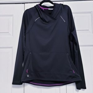 ATHLETA XL Black Fleece Lined Hooded Sweatshirt